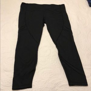 Black lululemon pace rival run tights, sz. 12